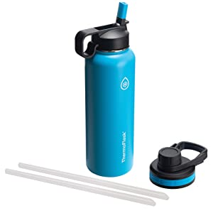 Thermoflask 50062 Double Stainless Steel Insulated Water Bottle, 40 oz, Capri