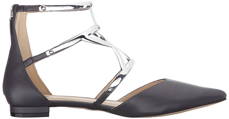 Nine West Women's Activista Synthetic Pointed Toe Flat B01ERP0LTI 9.5 B(M) US Dark Grey