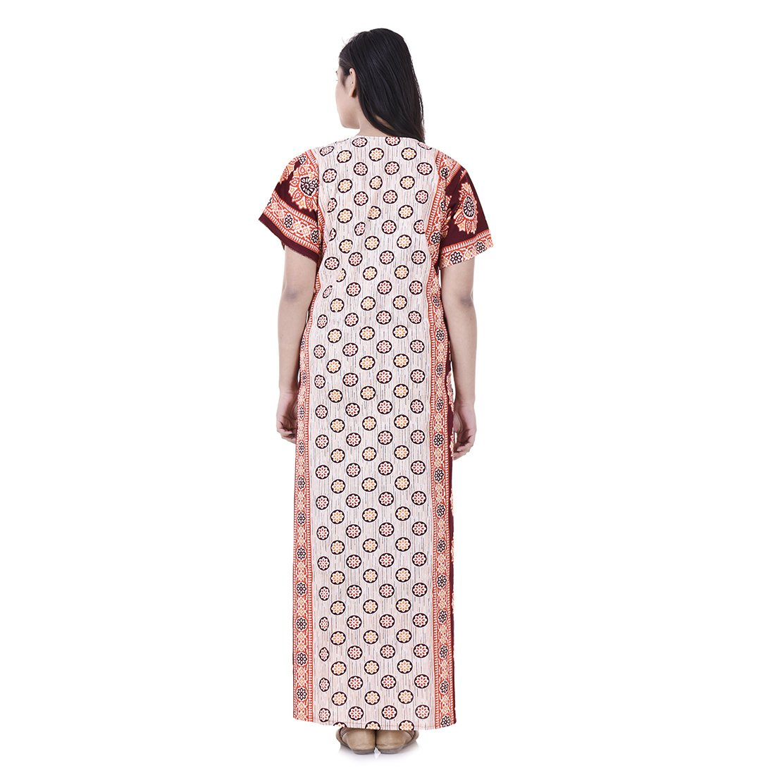 a621a91f6259 Womens Nighty Nightwear Gown Cotton Maxi Dress Sleepwear Nightgown Bikini  Cover Beachwear at Amazon Women s Clothing store