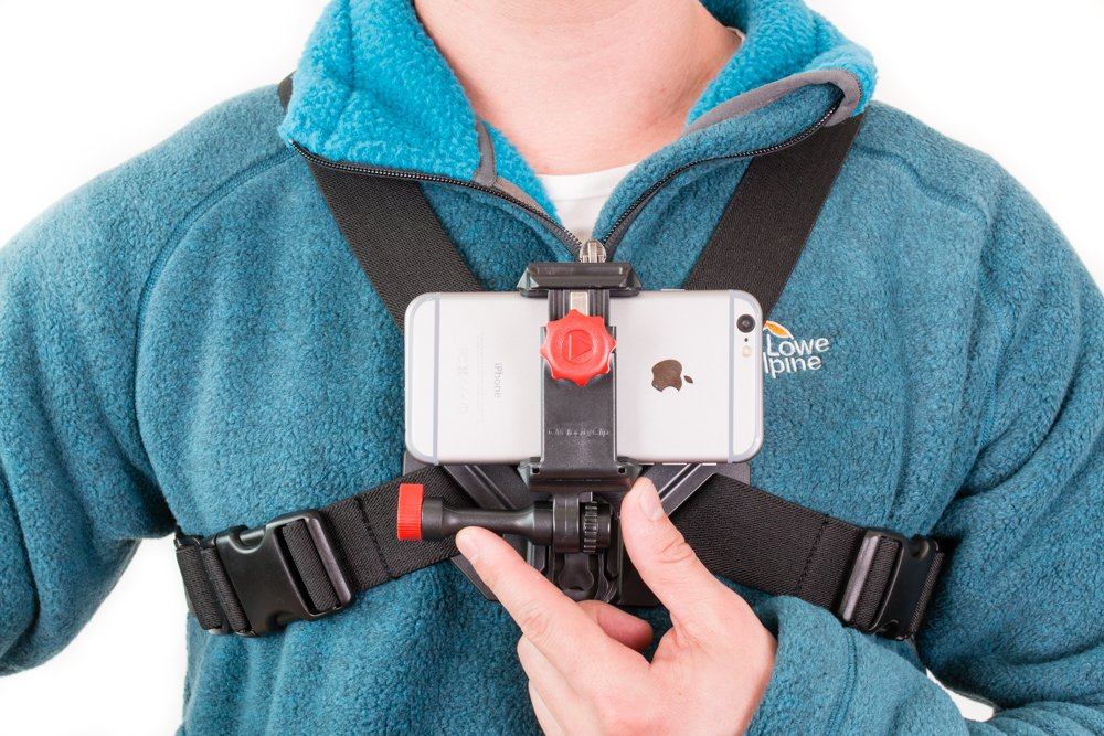 Action Camera for Skiing and Snowboarding. Fits on Your Chest 100% Compatible with Your Smartphone. by Velocity Clip