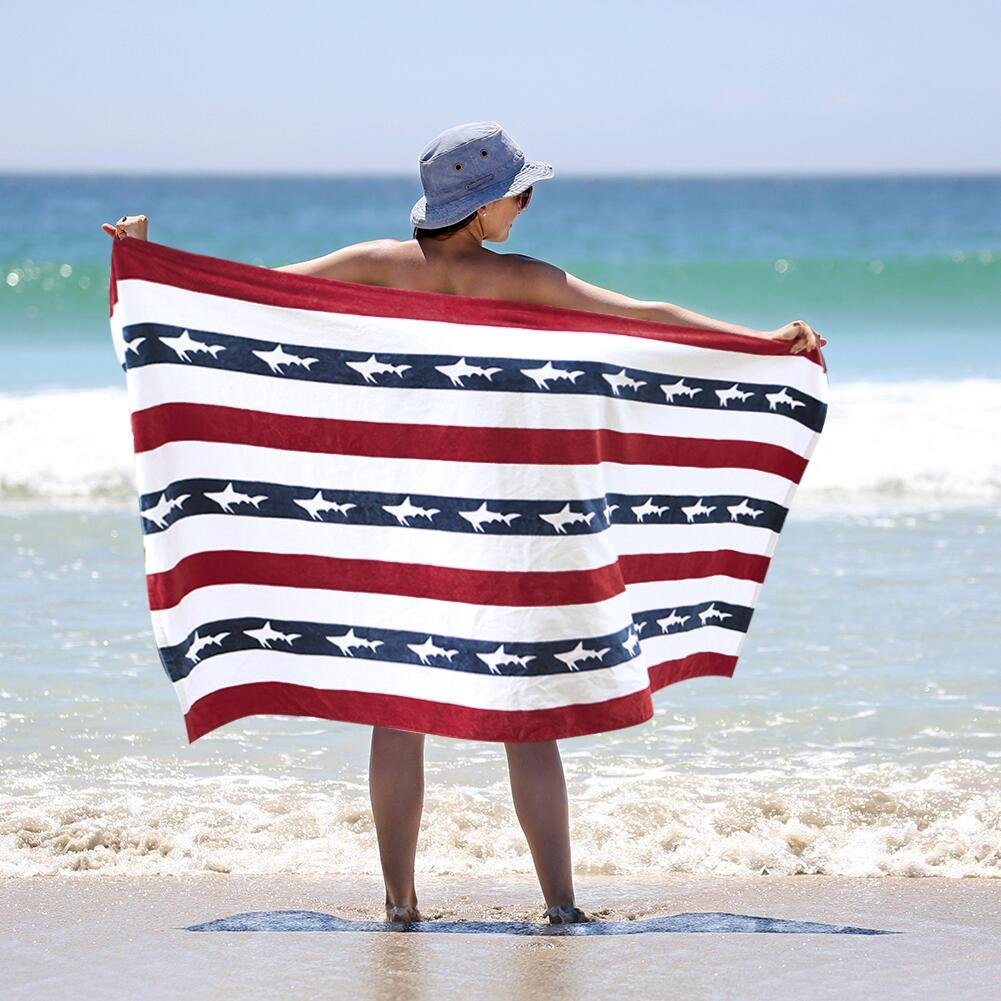 100% Cotton Beach Towels Premium Quality Cotton Craft Bath Towels Extra Large Absorbent Cotton Large Beach Towel Striped In Vibrant Colors