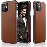 LOHASIC Designed for iPhone 12 Mini Case, Luxury Leather Business Premium Classic Cover Non Slip Soft Grip Protective Shockpr
