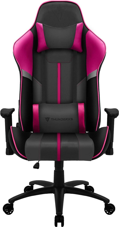 ThunderX3 BC3 BOSS, silla gaming tecnología AIR, transpiración total, rosa