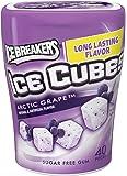 ICE BREAKERS ICE CUBES Sugar Free Gum (Arctic Grape, 40-Piece Container)