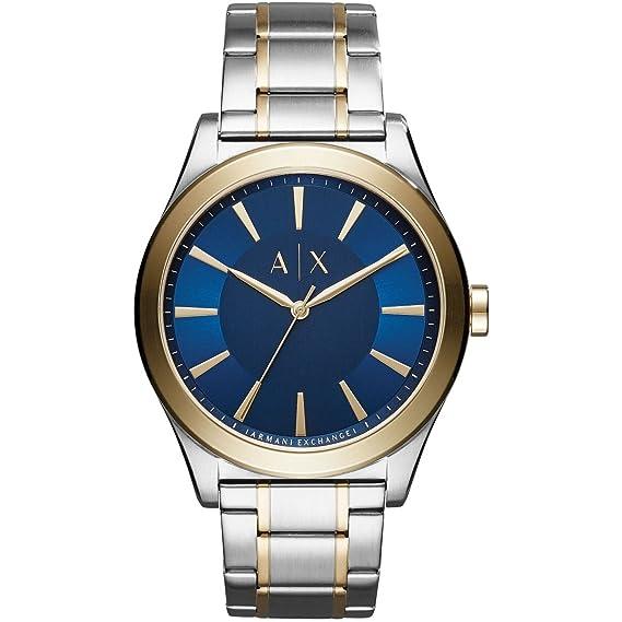 0667224ed18e Armani Exchange Reloj Analógico para Hombre de Cuarzo con Correa en Acero  Inoxidable AX2332  Amazon.es  Relojes