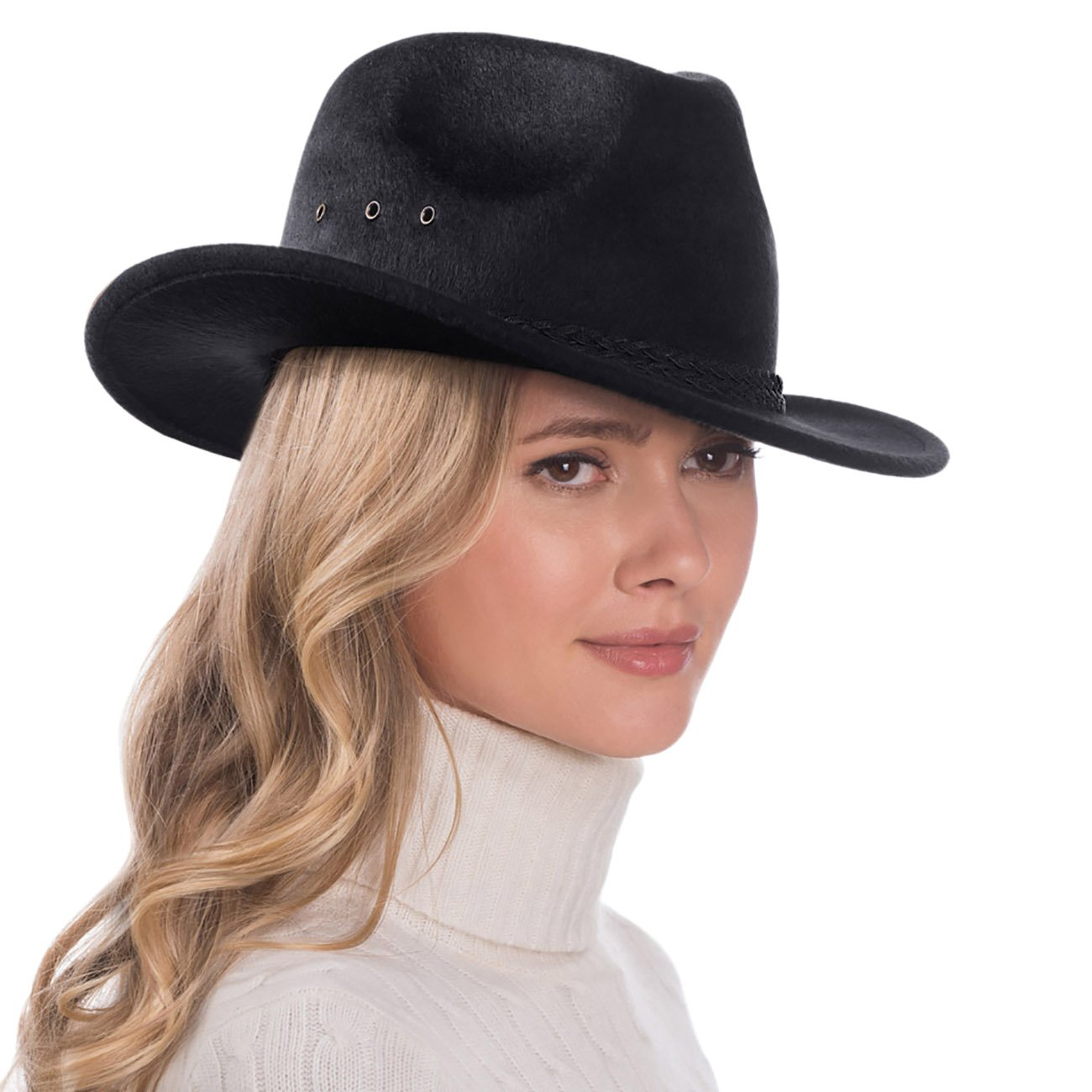 Eric Javits Luxury Fashion Designer Women's Headwear Hat - Stanwyck - Black by Eric Javits