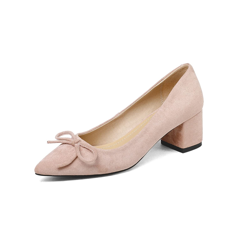 Komfortabel mit Licht in der Zahl Spitze der großen Zahl der Bow Tie Frauen singles Schuhe powderROT a9ca8d