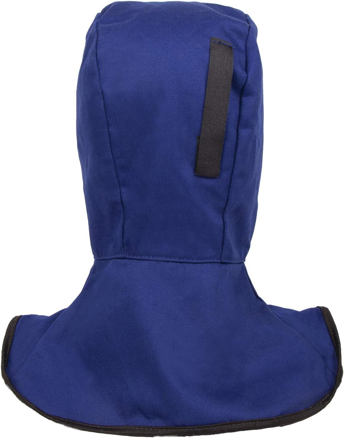 Welding Caps YESWELDER Blue Flame Retardant Full Protective Welding Hood with Neck Shoulder Drape