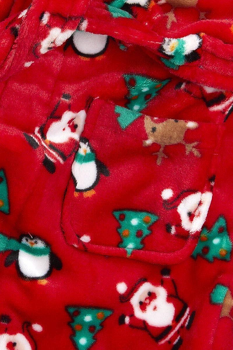 Baby Boys Girls Xmas Santa Penguin Hooded Fleece Bath Robe Novelty Dressing  Gown bdd1127c9