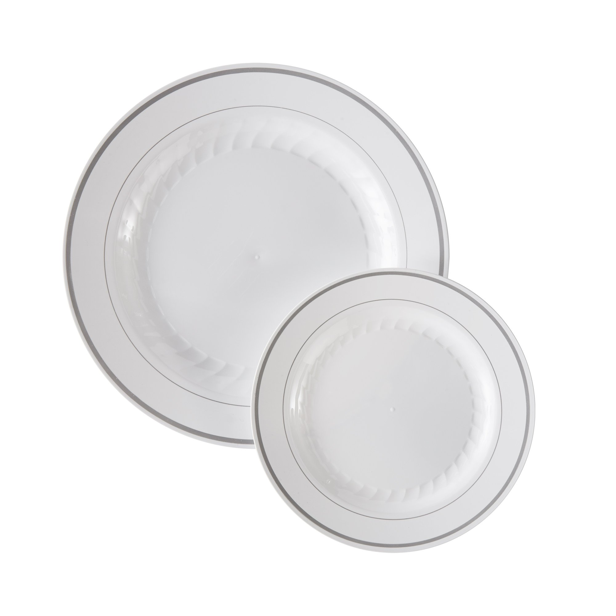 Masterpiece Premium Quality Heavyweight Plastic Plates: 25 Dinner Plates and 25 Salad Plates by Masterpiece