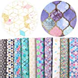 "David Angie Summer Fruits Printed Faux Leather Fabric Sheet 10 Pcs 8"" x 13"" (20 cm x 34 cm) for Bags Earrings Making DIY…"