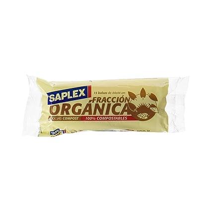 Saplex - Fracción Orgánica - Bolsas de Basura - 15 bolsas