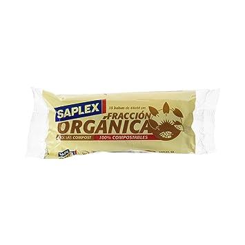 Saplex - Fracción Orgánica - Bolsas de Basura - 15 bolsas ...