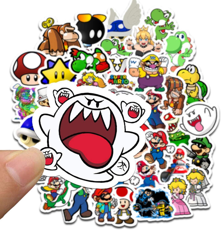 Meet Holiday Super Mario Stickers 100 PCS Cute Cartoon Game Comics Vinyl