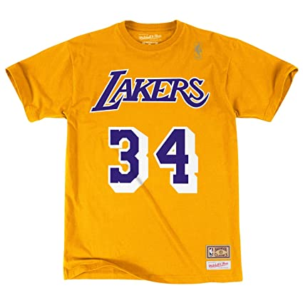 34cf94a3f Image Unavailable. Image not available for. Color  Mitchell   Ness  Shaquille O Neal Los Angeles Lakers ...