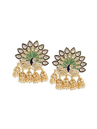 60f72c2b1 Buy Tipsyfly Peacock Jhumkis Post & Back Closure Metal Drop Earrings For  Womens Online at Low Prices in India | Amazon Jewellery Store - Amazon.in