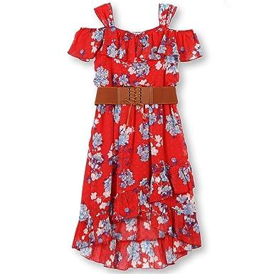 4ae25d8f7456 Amazon.com  Speechless Girls  Big Ruffle Front Dress  Clothing