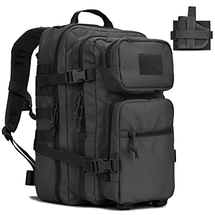 16a101590dac REEBOW GEAR Military Tactical Backpack w Gun Holster Small 3 Day Assault  Pack Army Bug