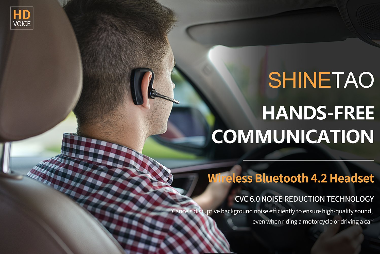 Amazon bluetooth headset v42 shinetao hands free bluetooth amazon bluetooth headset v42 shinetao hands free bluetooth earpiece for cell phones 2 hd microphones wireless earpieces for businessdrivingoffice thecheapjerseys Images