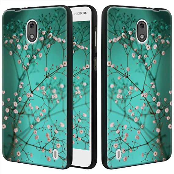 best website 89f48 fa3eb Nokia 2 Case, Linkertech Slim Air Armor Thin Fit Silicone Gel Soft TPU  Bumper Durable Flex and Easy Grip Protective Case for Nokia 2 (Plum Blossom)