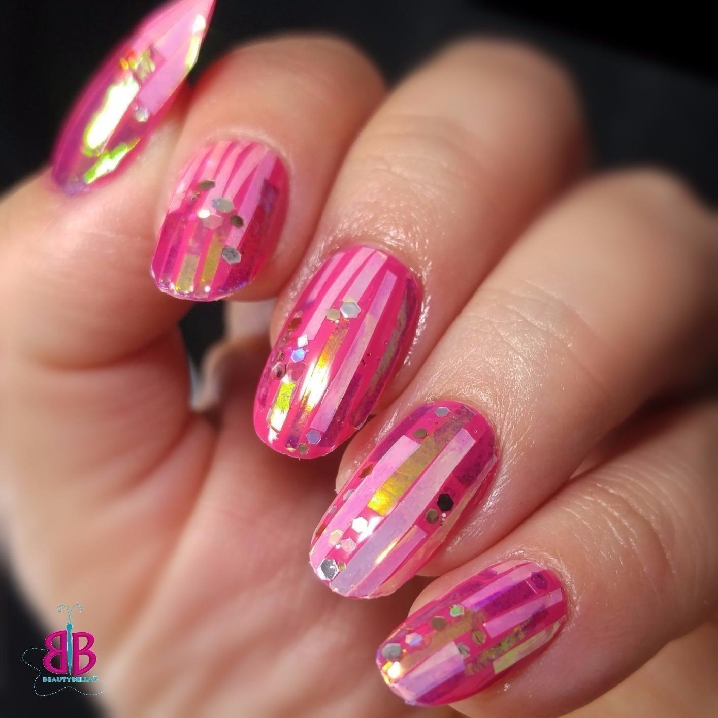 BTArtbox Fake Nails Short Oval Nails Round Nails Full Cover ...