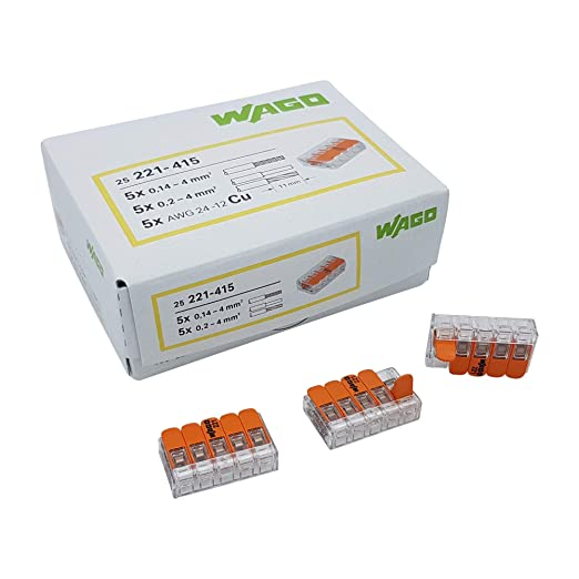 Bornas de conexi/ón r/ápida S221 2 WAGO 3 y 5 conductores x 200