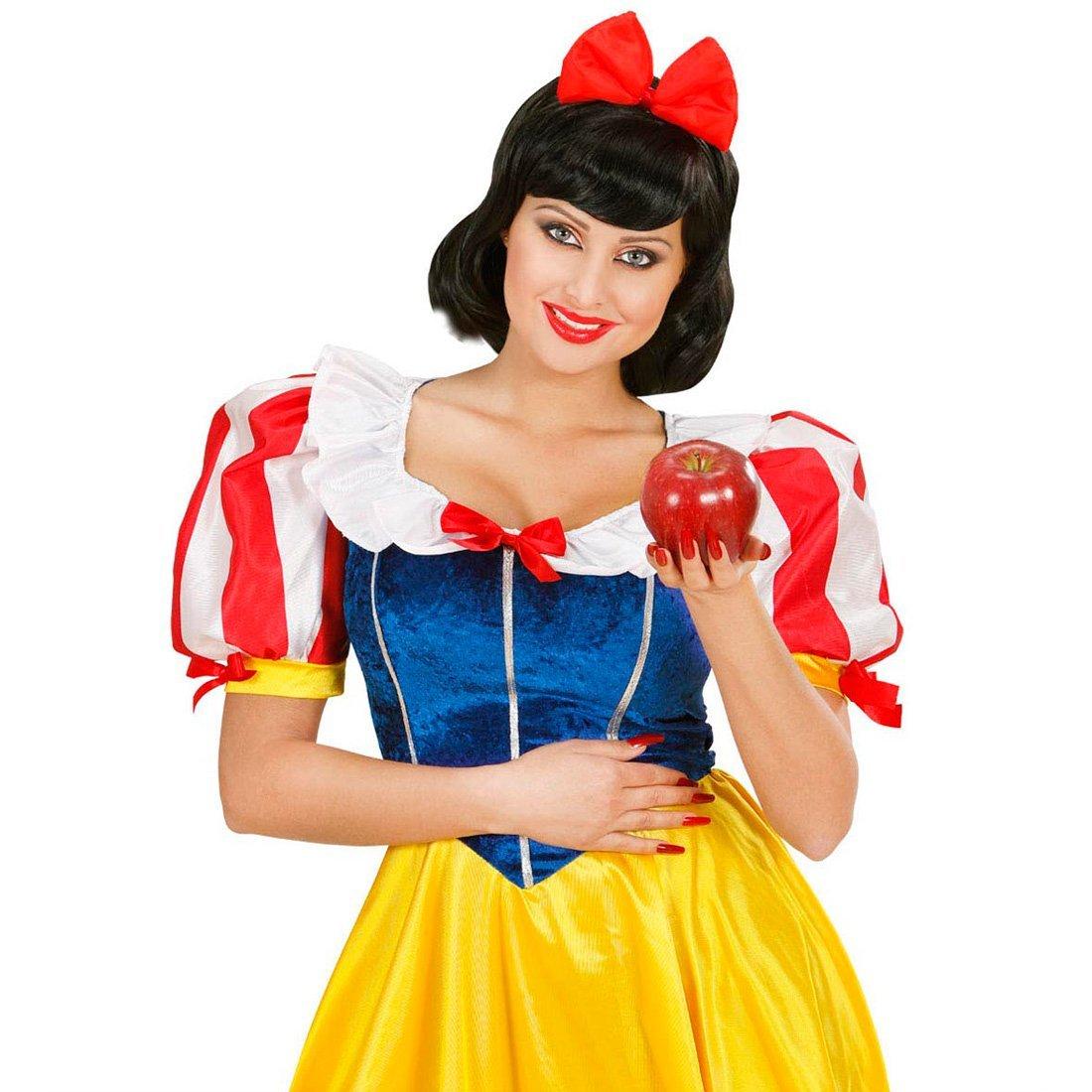 NET TOYS Blanche-Neige serre-tê te princesse bandeau pour cheveux carnaval serre-tê te avec ruban cheveux bandeau dé guisement accessoire conte de fé es