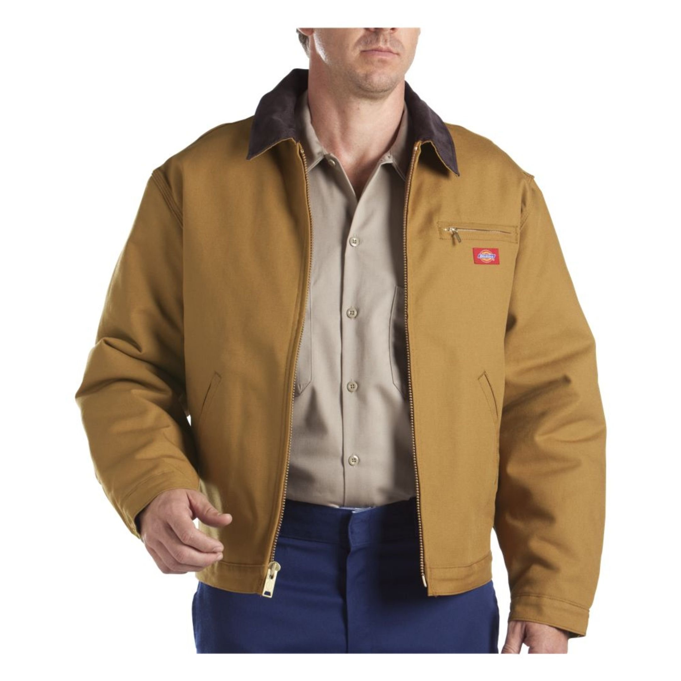 Dickies Men's Rigid Duck Blanket Lined Jacket, Brown Duck, Extra Large-Regular by Dickies