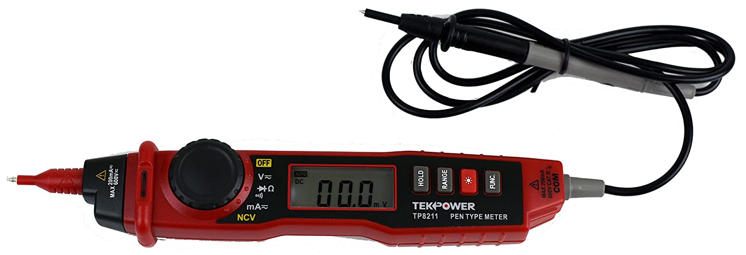 TekPower TP8211 Pen Type Digital Multimeter with Non Contact Voltage Detector Tester