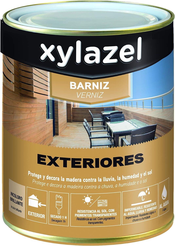 Xylazel M111917 - Barniz exteriores al agua 750 ml: Amazon.es ...