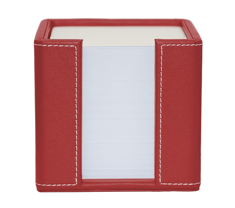 Memo Cube Holder piel sint/ética negro se suministra con 1.000 hojas de papel