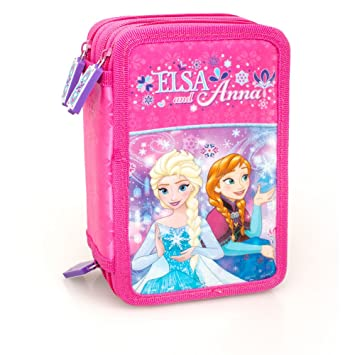 Disney Frozen 59124 Estuche 3 bisagras, plumier Triple, 44 ...