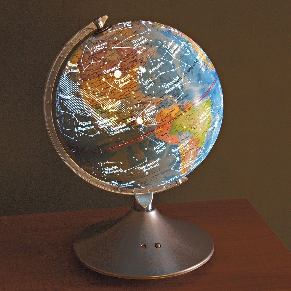 Constellation Globe - 14 inch Illuminated Globe - Earth and Star Constellations