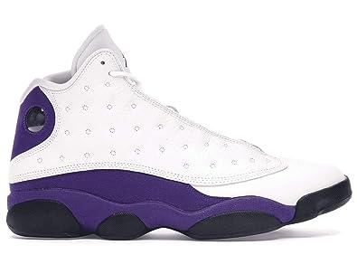 quality design 5b38f e5492 Amazon.com | Jordan Air 13 (White/Black/Court-Purple/Unive ...