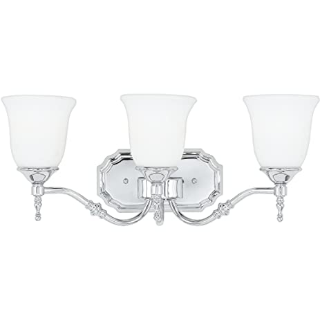 Quoizel TT8603C Tritan 3-Light Contemporary Uplight or Downlight Bath Fixture with Opal Etched Glass