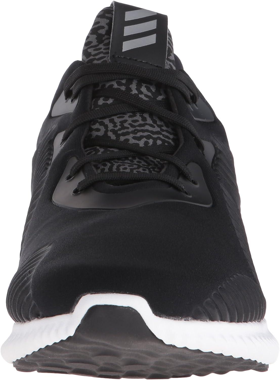 Adidas Alphabounce Toile Chaussure de Course Noir Métallisé Argenté Blanc
