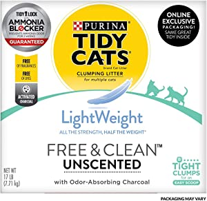 Purina Tidy Cats Lightweight Free & Clean Clumping Cat Litter