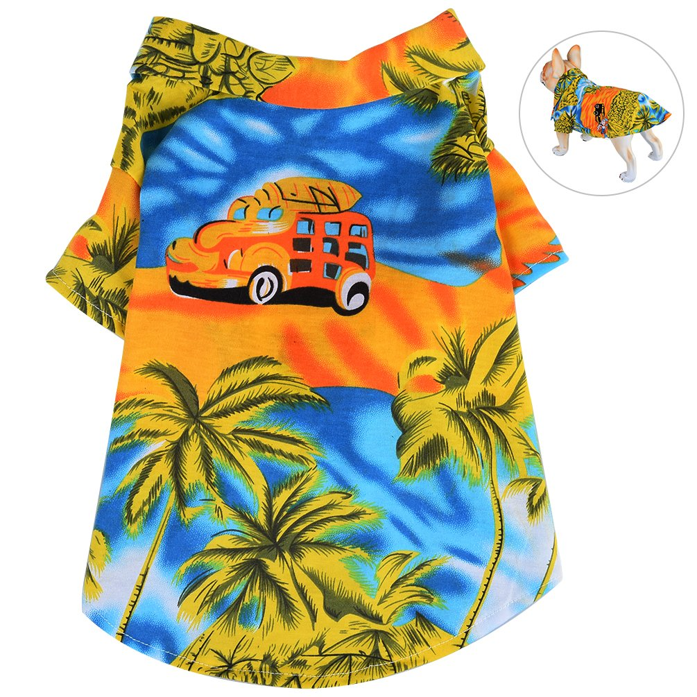 3ef8004cdd79 Amazon.com   Petacc Dog Shirt Breathable Puppy Summer Clothes Stylish Pet  Apparel