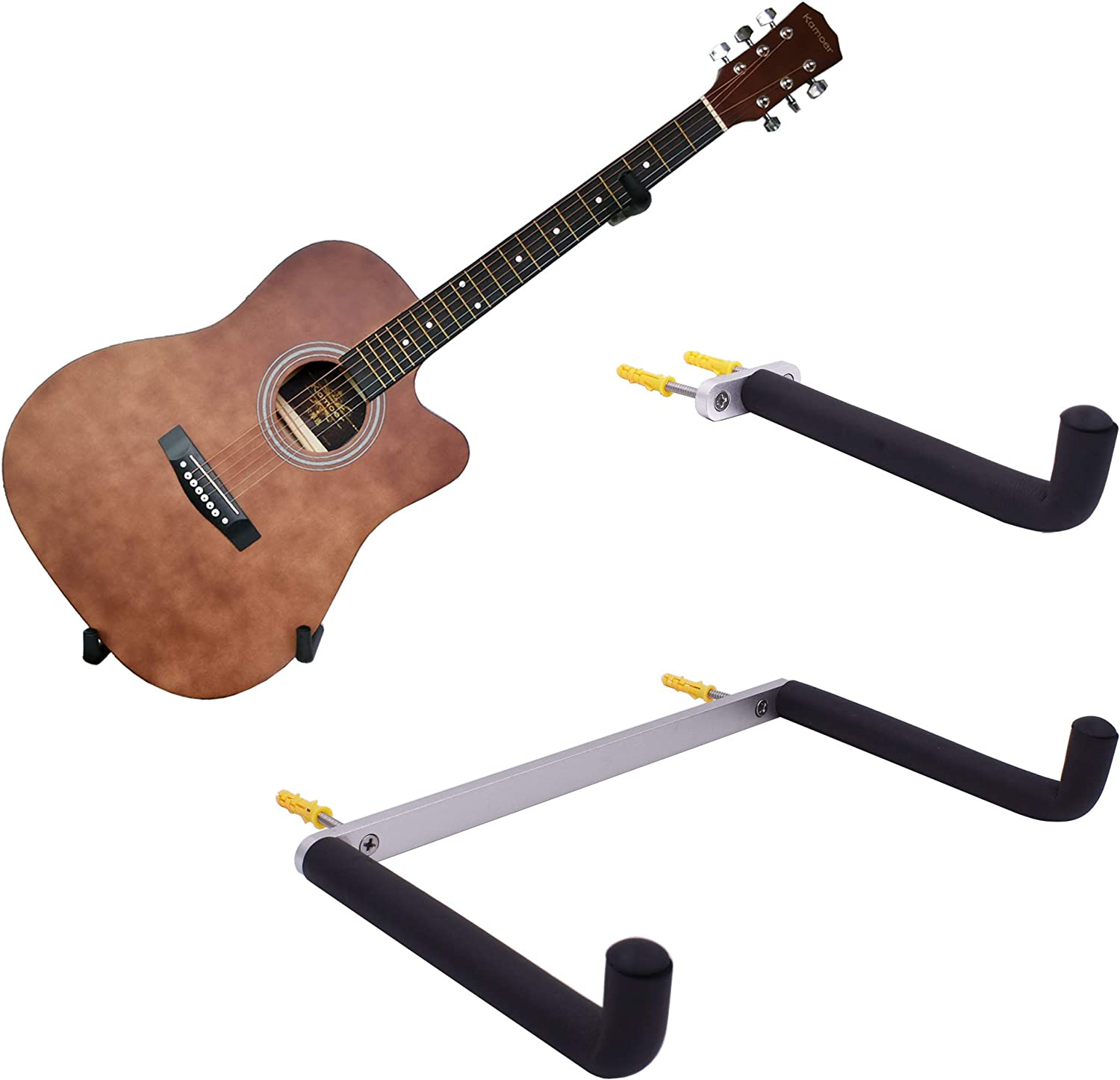 YYST - Soporte de Pared para Guitarra (inclinable, para Guitarras ...