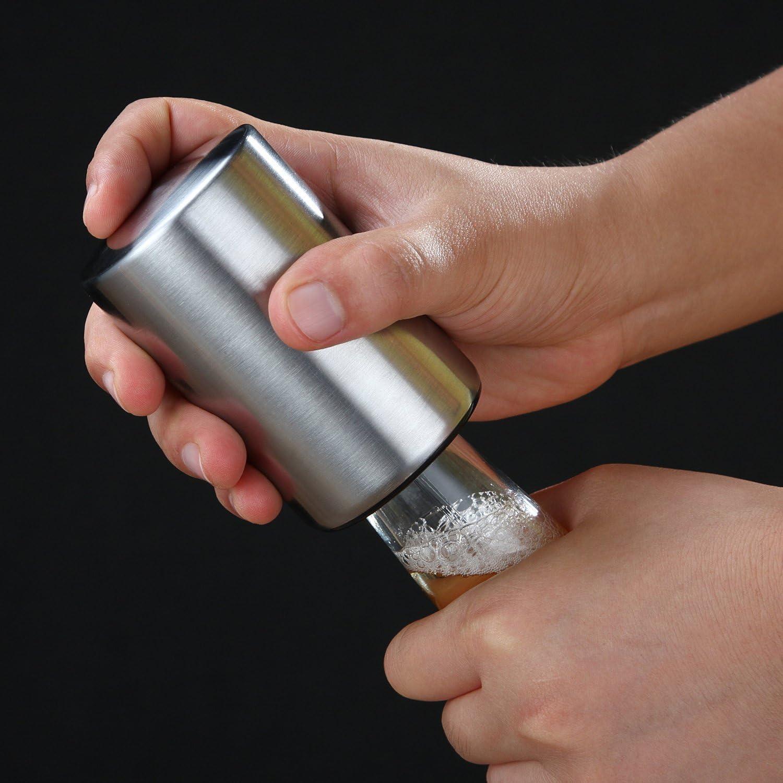 NOIR Push down ouvre-bouteille avec magnétique Cap Catcher-LIVRAISON GRATUITE