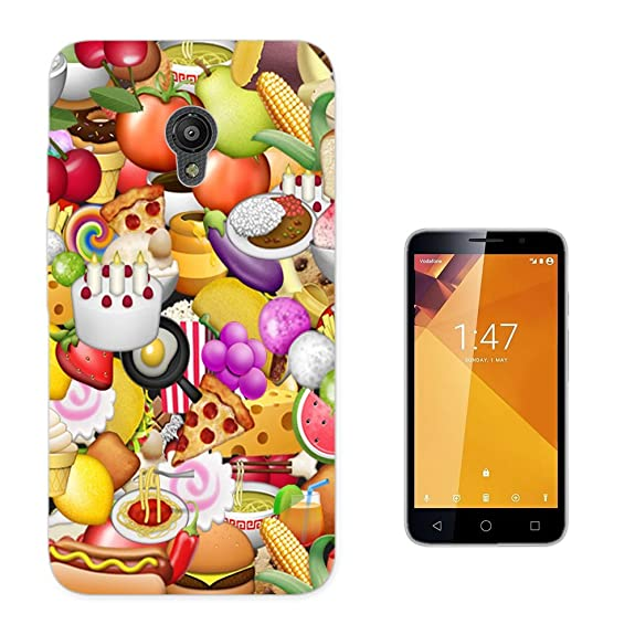 003217 - Fast food emoji Design Vodafone Smart Turbo 7 Fashion Trend CASE Gel Rubber Silicone
