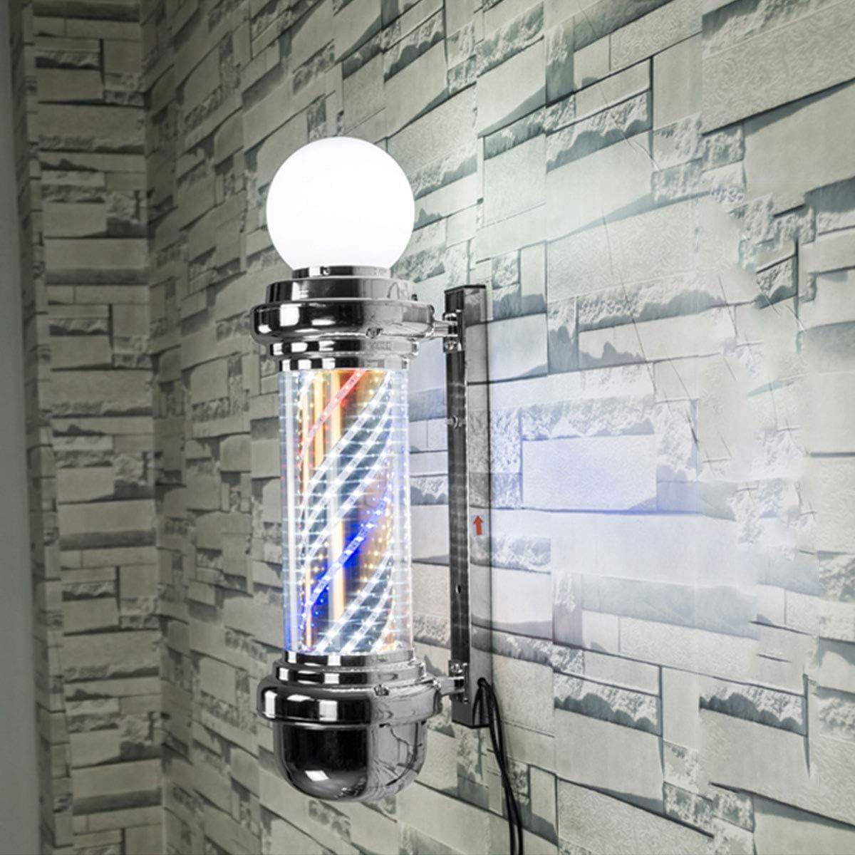 Poste de Barbero, Barber Pole LED Light, Peluquería a Prueba de ...