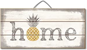 Highland Woodcrafters Home Pineapple 12 X 6 Slatted Pallet Wood Sign