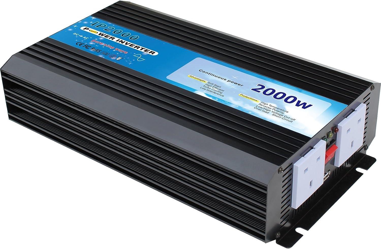 2000 W 4000 W Caravane Convertisseur Power Inverter DC 12 V à AC 230 V 240 V 4 USB 2 DEL