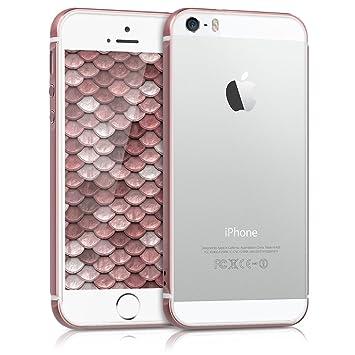 2adf6fa62f kwmobile 全体保護 バンパー 枠 Apple iPhone SE / 5 / 5S - シリコン アルミニウム バンパー