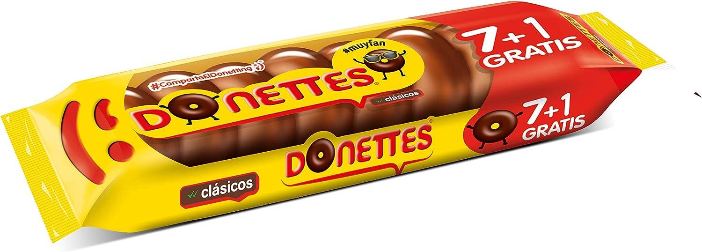 Donettes Clásicos Sabor Chocolate pack 7+1 unidades gratis. 152 g (19gr por mini rosquilla): Amazon.es: Alimentación y bebidas