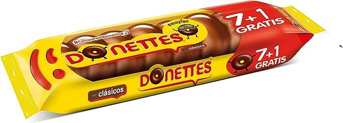 Donettes Clásicos Sabor Chocolate pack 7+1 unidades gratis. 152 g ...