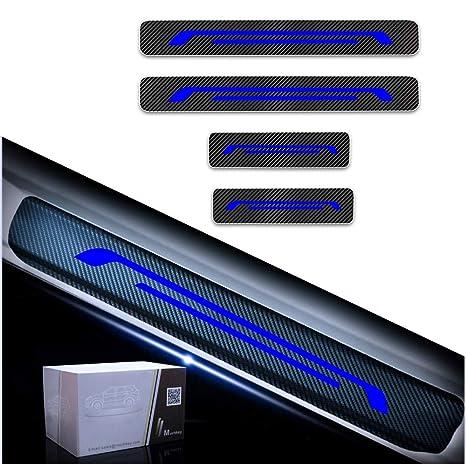 Tuqiang 4 Piezas Umbral De La Puerta Protectores 4D Fibra de Carbono Adhesiva Pegatinas para Grand