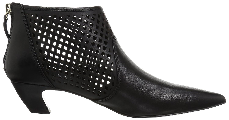Nine West Women's 8 Yovactis Leather Ankle Boot B077VZN2GZ 8 Women's B(M) US|Black 2d5494