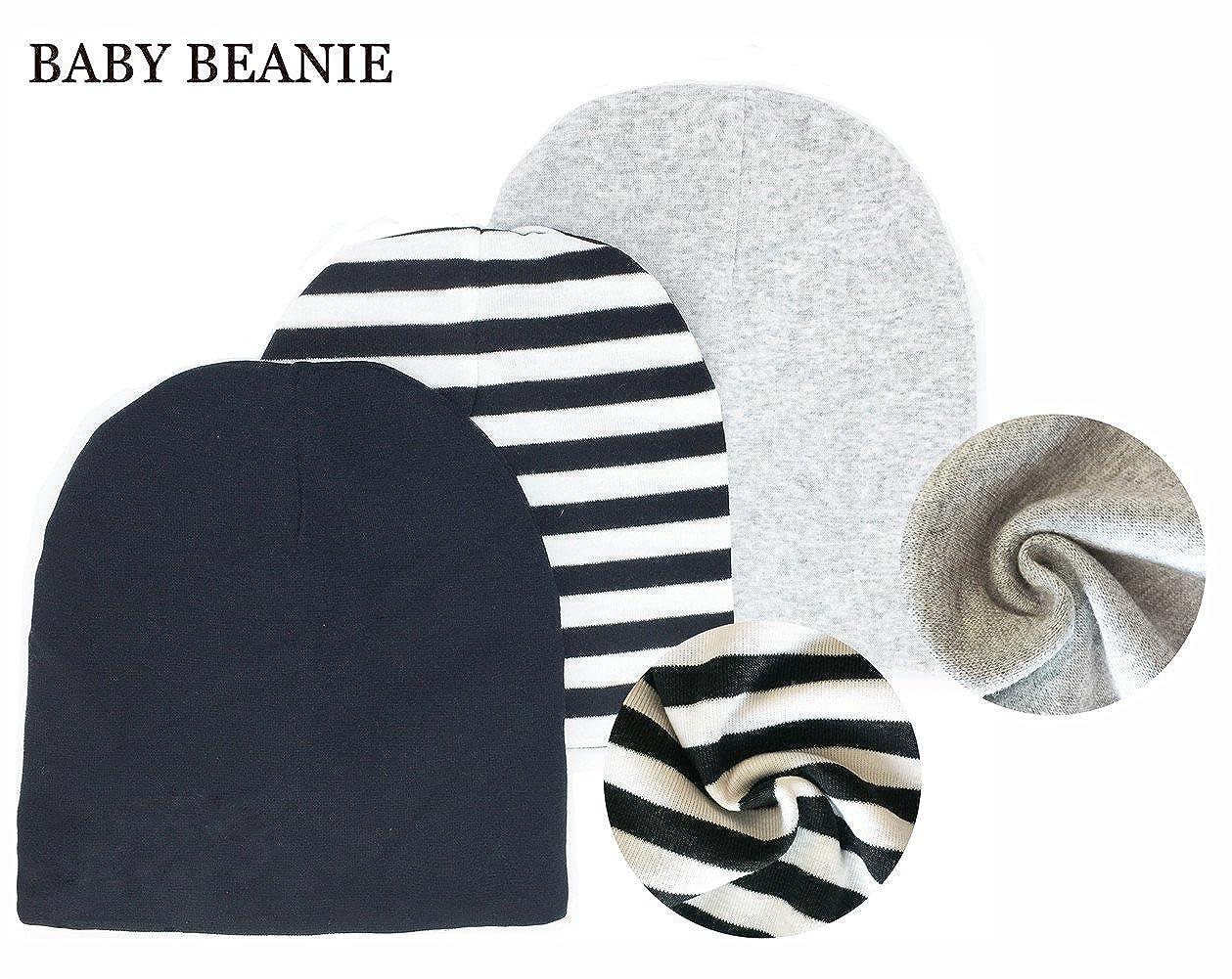 Miyarooma Kids Beanie Hat Soft Adjustable Cool Boy Cute Girl Cotton Toddler Knit Hat Cap